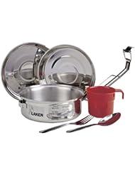 Set de cocina de Laken de acero inoxidable 17 cm con funda de neopreno
