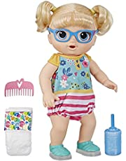 Baby Alive Step n Giggle Baby Blonde Hair Doll with Light-up Shoes, Responds with 25+ Sounds and Phrases, Drinks and Wets, Toy Doll for Kids Ages 3 Years Old and Up