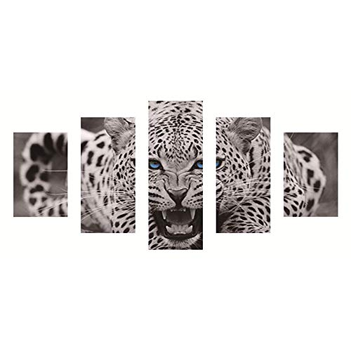 FORH DIY 5D Diamond Painting Set Diamant Malerei Kreuzstich Schön Naturlandschaft Decor Geschenk Kreuzstichmotive Full Kits Handwerk Wie Stickerei Kreuzstich Haus Dekorationen (Leopard 40 * 80cm) -