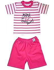 Ebi & Ebi Baby - Papa / Mama is the Best - Bekleidungsset(2 teilig) Set - Jungen Mädchen - Blau oder Pink