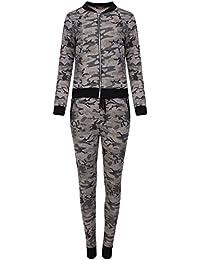 13e97f1bd3ee Love Celeb Look LCL- Femmes Camouflage Armée Vêtement De Loisirs Set Veste  zippée Jogging Pantalon