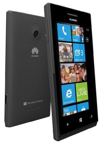 Huawei Ascend W1 Smartphone (10,2 cm (4 Zoll) Touchscreen, 5 Megapixel Kamera, 4 GB Interner Speicher, Win 8) schwarz