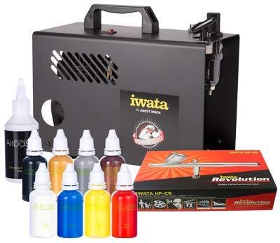 Iwata Professional Body Art Airbrush-Kit mit Power Jet Lite Kompressor -
