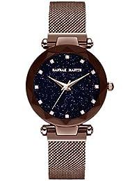 Mujer Relojes, Lananas Moda Starry Sky Cielo Estrellado Dial Diamond Cutting Tamaño Libre