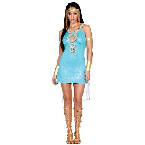 Halloween Kostuem Make-up Party Kleidung Festival Fasching Karneval Cosplay Maskerade Erwachsene Kostuem Sexy Koenigin von Da Nile Cleopatra Goettin Kostuem Kleid Erwachsene M (Göttin Des Nils Für Erwachsene Kostüm)