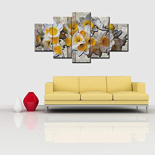 3D Sticker 3D Wulian Malerei Moderne minimalistische rahmenlose Malerei, Magnolien Ölgemälde, Malerei, fünf Gemälde, Kombination Dekoration, dekorative Kern
