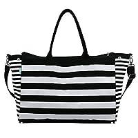 Canvas Duffle Bag For Unisex,Black - Travel Duffle Bags