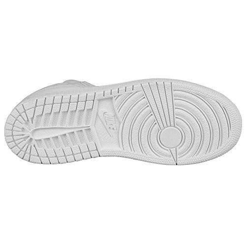 Nike Jungen Jordan 1 Flight 3 Bp Turnschuhe Weiß / Versilbert (Weiß / Pure Platinum-White)