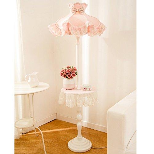TMY Stehlampe Kinderzimmer hohe Stehlampe Schlafzimmer Mädchen Prinzessin E27 Standard Lampe mit Regal -42 * 147cm