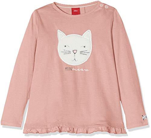s.Oliver Baby-Mädchen Langarmshirt 65.808.31.8145, (Dusty Pink 4257), 68