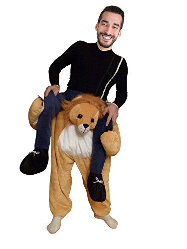 Ikumaal Carry-me Löwen-Kostüm, F101 Gr. M-L, Löwe-Faschingskostüm für Männer u. Frauen, Fasnachts- Faschings- Karnevals- Tier-Kostüme, Geburtstags-Geschenk, - Für Erwachsene Sexy Löwen Kostüm