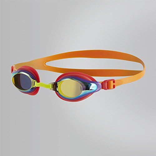 Speedo Kinder Mariner Supreme Mirror Junior Goggles Jaffa/Watermelon/Gold One Size