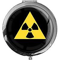 """metALUm - Extragroße Pillendose in runder Form""""Radioactive"""" preisvergleich bei billige-tabletten.eu"""