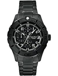 Nautica  - Reloj Analógico de Cuarzo para Hombre, correa de Acero inoxidable color Negro