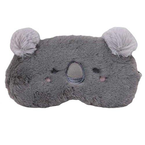 Yinew Cute Animal Flauschig Neuheit Sleep, Augenmaske mit Elch, Bär, Koala, Kaninchen, Little Monster, Deer Elastische Träger für Kinder Damen Herren, Plüsch, Koala, Siehe ()