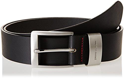 Pierre Cardin - cinturón de cuero pierre cardin, xxl-bw150, en un saco de tela, entrega gratis, negro 70007 (120, negro)