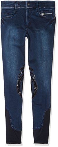 Harry 's Horse Dirty Denim Grip, Pantalones de Equitación Infantil, Azul, 164
