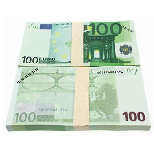 Tikaee 10PCS Spielgeld Scheine Euro Scheine Set Euroschein 5/10/20/50 100/200/500 Euro-Geldscheine Euro-Münzen für Kaufmannsladen, zum Rechnen und Lernen, Einkaufsladen, Deko (€ 100 (10Pcs))