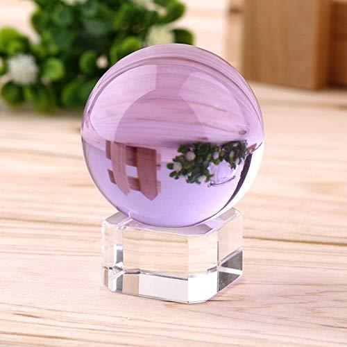 GFGHH Hot Unisex Natural Quartz Purple Round Magic Crystal Healing Ball Sphere 40mm + Stand Home Good Luck Decoration