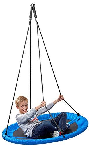 Nestschaukel 110 cm, blau - Garten-Schaukel bis 150 kg belastbar, TÜV/GS