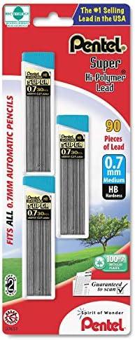 Wholesale case of 25 – Pentel super Hi-Polymer Automatic Pencil Pencil Pencil leads-lead refill, durezza HB, .7 mm, 3 TB, nero | Imballaggio elegante e robusto  | Prezzo basso  | Prezzi Ridotti  728138