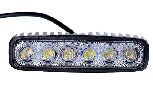 Leetop 18W LED Arbeitslicht Offroad Flutlicht Spotlight Reflektor 12V 24V Scheinwerfer Arbeitsscheinwerfer 1600LM IP67 Wasserdicht Schwarz Aluminium Druckguss(18 Watt)