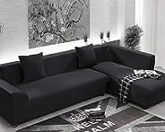 Elastic Stretch Sofa Cover- L Shape 2 Pieces Set