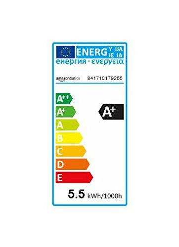 confronta il prezzo AmazonBasics Lampadina LED E14 a Sfera, P45, 5.5W (equivalenti a 40W), Luce Bianca Calda- Pacco da 6