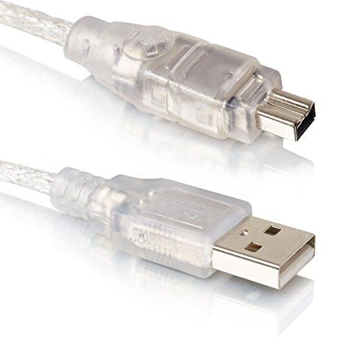 USB zu Firewire | 1,5M | USB 2.0 | 4 Pin IEEE | iLink FireWire DV Adapter Kabel | Adapter-Kabel 1394 | Transparent - MOVOJA