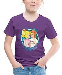 Bibi Und Tina Zeichen Der Freundschaft Kinder Premium T-Shirt, 122/128 (6 Jahre), Lila