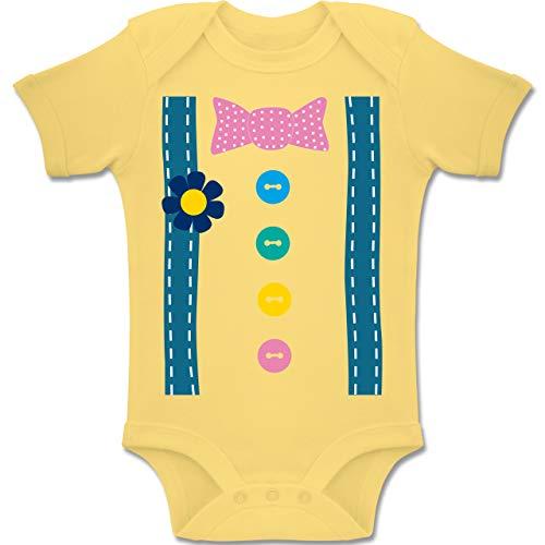 Kostüm Baby Joker - Shirtracer Karneval und Fasching Baby - Clown Kostüm - 3-6 Monate - Hellgelb - BZ10 - Baby Body Kurzarm Jungen Mädchen