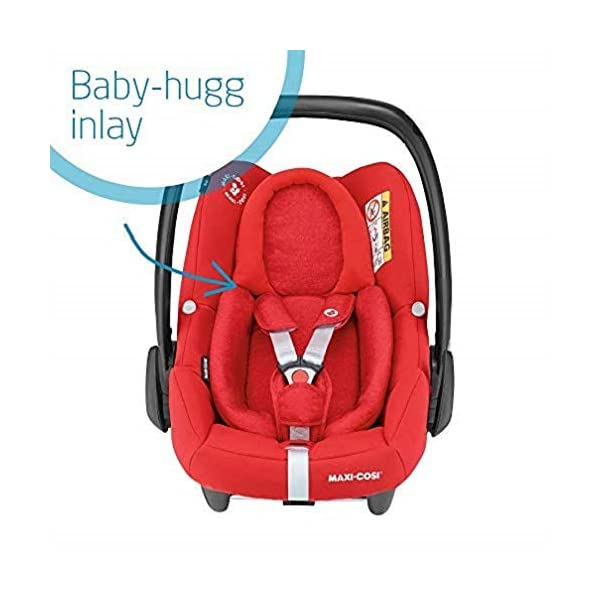 Maxi-Cosi Adorra Comfortable Urban Pushchair from Birth, Full Reclining Seat, 0 Months - 3.5 Years, 0 - 15 kg with Rock Baby Car Seat Group 0+,ISOFIX, i-Size Car Seat, Rearward-Facing, 0-12 m, Nomad Red, 0-13 kg Maxi-Cosi Cocooning seat - the luxury of a large padded seat for baby Lightweight - a light stroller less than 12kg that makes walking effortless Excellent safety rating: complies with the latest i-size (r129) car seat legislation 5