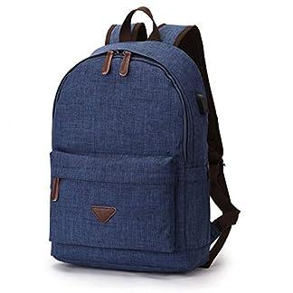 LOSMILE Mochila para portatiles para Hombres y Mujeres, Se Adapta a portatiles de 14 Pulgadas, Mochila Tipo Casual Backpack Daypack para Viajes de Trabajo, Colegio, Deporte, Universidad. (Azul)