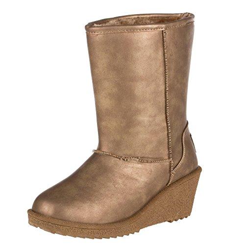 Damen Schuhe, 8317, STIEFELETTEN Gold BB-22-