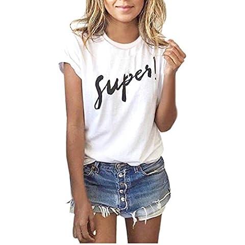 Fortan Estate delle donne manica corta camicetta carro casuali parti superiori T-shirt
