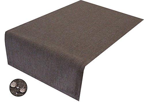 Tischläufer taupe braun 40 x 200 cm abwaschbar, Schmutz- und Wasserabweisend, eckig – Größe & Farbe wählbar