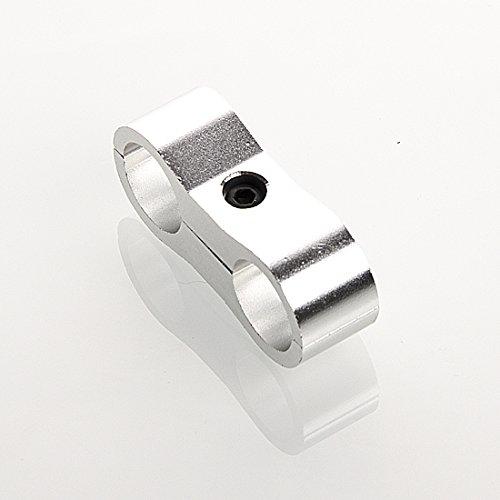 Preisvergleich Produktbild Dash 8 Aluminium Schlauchhalter doppelt ( 15, 80mm ,  Silber)