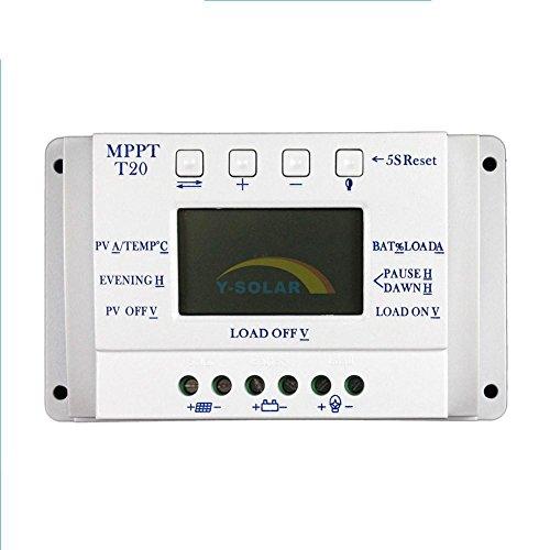 No es cierto MPPT, no hay una gran bobina de transformador en el interior, modo de carga MPPT + PWM compatible   Adopta una pantalla LCD personalizada, lo que hace que la operación en la interfaz sea más conveniente. Todos los parámetros de contro...