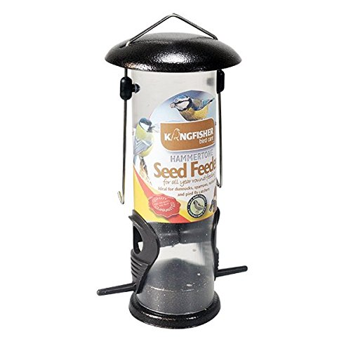 wild-bird-seed-feeder-hammertone-metal-top-and-bottom-garden-wildbird-hanging