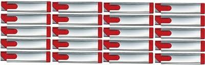 20 Stück Sicherheits-Karton-Messer für alle Schneidarbeiten in Verkaufsräumen, Anwendungsvorteil 4-seitig nutzbare Klinge, rostfreier Metallhülse, automatischer Klingenrückzug, für Rechts- und Linkshänder, Cuttermesser von Martor KG Solingen bei Ta