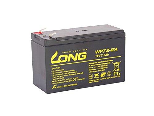 Akku Kung Long WP7.2-12 12V 7,2Ah F250 (6,3mm) AGM Batterie VDS wartungsfrei