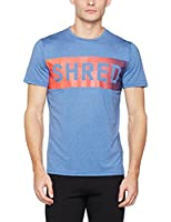 New Look Men's Word Graphic Sports Top, Blue (Bright Blue), X-Large