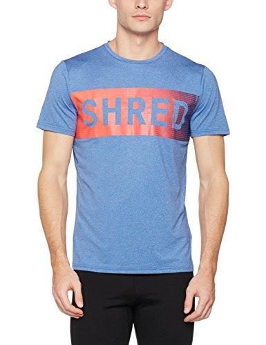 New Look Herren Sport Top Word Graphic Blue (Bright Blue)
