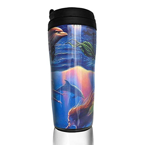 Stainless Steel Thermal Insulation Water Bottles Blue Space Pattern Travel Mug Non-Leaking Sports Bottles for Outdoor Running Camping Gym12 Oz/350ml with Lids -