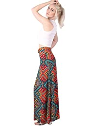 PILOT® Women's Tribal Print Belted Maxi Skirt in Red