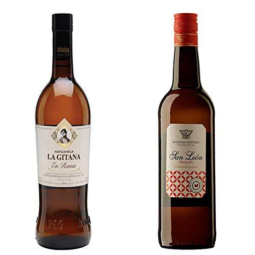Manzanilla Gitana En Rama Y Manzanilla San León - D. O. Manzanilla De Sanlúcar De Barrameda - 2 Botellas De 750 Ml