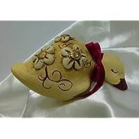 Papera a testa in giù, le ceramiche del re, linea fiori e cristalli.