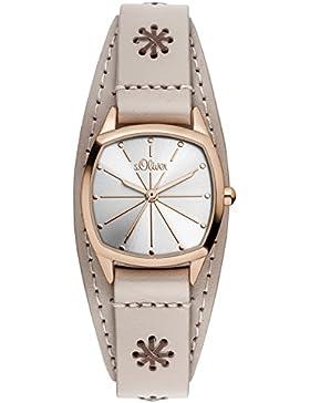 s.Oliver Damen-Armbanduhr XS Analog Quarz Leder SO-3003-LQ