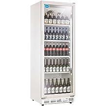 Nevera para botellas con puerta de cristal, 230 litros, nevera para bebidas, nevera