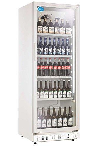 Flaschenkühlschrank mit Glastür 230 Liter Getränkekühlschrank Gewerbekühlschrank - HOCHWERTIGE VERARBEITUNG - TOP-QUALITÄT - GERINGER STROMVERBRAUCH